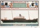 Bart van der Leck (1876-1958)  -  Leck, v.d./Batavier-lijn/ Br - Postcard -  A0401-1