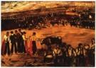 J. Gutierrez-Solana (1886-1945 -  La plaza - Postcard -  A10018-1