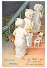 A.N.B.  -  Kinderen lopen met kaarsen de versierde trap op - Postcard -  A100290-1