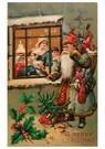 A.N.B.  -  Kerstman met cadeaus voor een huis - Postcard -  A100365-1