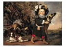 Pieter van Noort (1622/25-1672 -  Jachtstilleven met kind - Postcard -  A10068-1