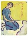 Charlotte Salomon (1917-1943)  -  Charlotte op haar bed - Postcard -  A10109-1