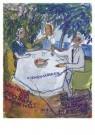 Charlotte Salomon (1917-1943)  -  Charlotte en Grootouders - Postcard -  A10123-1