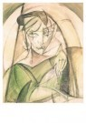 Leo Gestel (1881-1941)  -  Damesportret - Postcard -  A10176-1