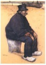 Willy Sluiter (1873-1949)  -  Portret Dirk-Oom - Postcard -  A10268-1