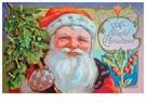 A.N.B.  -  Kerstman houdt een kerstboom in zijn hand - Postcard -  A102808-1