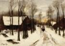 Arina Hugenholtz (1848-1934)  -  Sneeuw in Laren - Postcard -  A10349-1