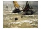 Hendrik W. Mesdag (1831-1915)  -  Klaar voor vertrek - Postcard -  A10384-1
