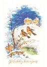 A.N.B.  -  Twee vogels op een tak in een winterlandschap - Postcard -  A104394-1