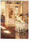 Gotthardt Kuehl (1850-1915)  -  Nahendes Madchen - Postcard -  A10447-1