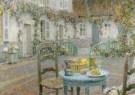 Henri le Sidaner (1862-1939)  -  Blauwe tafel detail - Postcard -  A10489-1