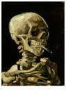 Vincent van Gogh (1853-1890)  -  Head of a skeleton with a burning cigarette, 1886 - Postcard -  A105556-1