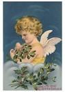 A.N.B.  -  Kerstengel met takken in haar hand - Postcard -  A105904-1