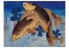 Katshushika Hokusai (1760-1849 -  Two fish - Postcard -  A106200-1
