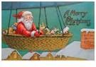 A.N.B.  -  Kerstman met cadeaus in luchtballon - Postcard -  A106584-1