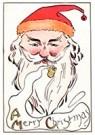 A.N.B.  -  Kerstman rookt een pijp - Postcard -  A106787-1