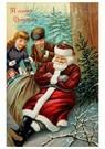 A.N.B.  -  Kinderen lopen naar kerstman toe die ligt te slapen - Postcard -  A107853-1