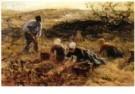 Jan Zoetelief Tromp (1872-1947 -  Aardappelrooien - Postcard -  A10819-1