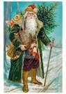 A.N.B.  -  Kerstman loopt met cadeaus door de sneeuw - Postcard -  A108442-1