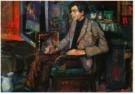 Kees Verwey (1900-1995)  -  Man in stoel - Postcard -  A10920-1