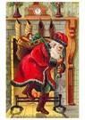 A.N.B.  -  Kerstman met cadeaus stapt uit de open haard - Postcard -  A109733-1