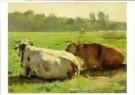 Jules Dupre (1851-1910)  -  Koeien in een weide - Postcard -  A11022-1