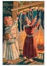 A.N.B.  -  Kinderen staan bij hun sokken die gevuld zijn met cadeaus - Postcard -  A110441-1