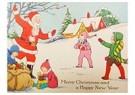 A.N.B.  -  Kinderen spelen met de kerstman in de sneeuw - Postcard -  A110556-1