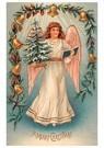 A.N.B.  -  Engel met kerstboom en een boek - Postcard -  A110699-1