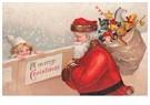A.N.B.  -  Kerstman met cadeaus in de sneeuw - Postcard -  A110879-1