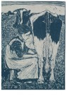 Jan Mankes (1889-1920)  -  Koemelkster - Postcard -  A11122-1