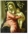 Jacopo Tintoretto (1518-1594)  -  Maria met kind - Postcard -  A11138-1