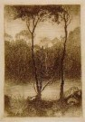 Jan Mankes (1889-1920)  -  Beekje bij avond, 1916 - Postcard -  A11260-1