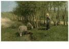 Anton Mauve (1838-1888)  -  Duinlandschap met schapen, z.j. - Postcard -  A11273-1