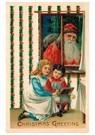 A.N.B.  -  Kerstman kijkt door het raam naar binnen - Postcard -  A112947-1