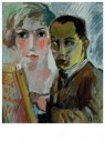 Paul Citroen (1896-1983)  -  Zelfportret met Lotti Weiss, 1927 - Postcard -  A11335-1