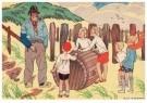 Ella Riemersma (1903-1993)  -  Uit: Van Vier Vroolijke Klantjes uit het Zouteland - Postcard -  A11401-1