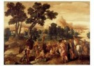 Lambert Sustris (1515-1568)  -  De prediking van Johannes de Doper, 1530-1535 - Postcard -  A11414-1