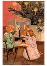 A.N.B.  -  Kinderen spelen bij de kerstboom - Postcard -  A114154-1