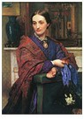 William Holman Hunt (1827-1910 -  Portrait of Fanny Holman Hunt, 1866-1867 - Postcard -  A114408-1