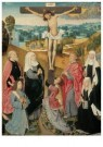 -  Kruisiging met heiligen en stichters, ca. 1500 - Postcard -  A11443-1