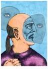 Brecht (1953-2010)  -  Oude hippie ziet zichzelf tweemaal grijs - Postcard -  A11458-1