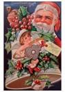 A.N.B.  -  Kerstman met een pijp in zijn hand achter een kerstbel - Postcard -  A114912-1