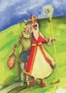 Michelle Buffart  -  Zwarte Klaas en Witte Piet, 2009 - Postcard -  A11496-1
