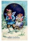 A.N.B.  -  Kinderen met een slee door de sneeuw - Postcard -  A115717-1