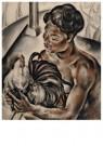 Dolf Breetvelt (1892-1975)  -  Balier met vechthaan, ca 1930 - Postcard -  A11572-1