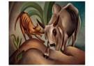 Dolf Breetvelt (1892-1975)  -  Hond en zebu, 1936-1937 - Postcard -  A11577-1