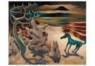 Dolf Breetvelt (1892-1975)  -  Paardje in surrealistisch landschap, ca 1936 - Postcard -  A11579-1