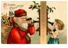 A.N.B.  -  Kerstman belt een meisje - Postcard -  A116553-1