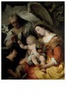 Ferdinand Bol (1616-1680)  -  The Virgin and Child with the infant Saint John - Postcard -  A11658-1